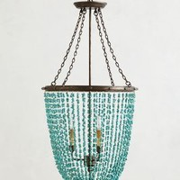 Turquoise Rivulets Chandelier    by Anthropologie in Blue Size: One Size Lighting