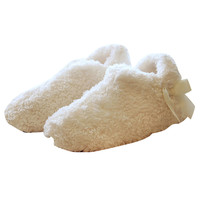 White Bow Detail Slippers