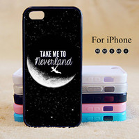 Peter Pan, Take to me neverland, iPhone 5 case,iPhone 5C Case,iPhone 5S Case, Phone case,iPhone 4 Case, iPhone 4S Case,Case-IP002Cal