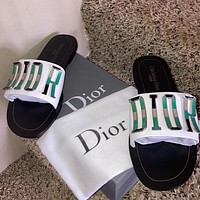 DIOR new metal letters ladies slippers sandals Shoes