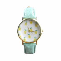 Pineapple Vegan Leather Watch