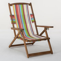 Bali Stripe 5-Position Chair Canvas | World Market