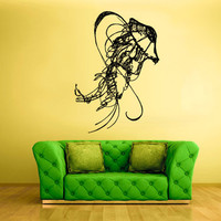 rvz1584 Wall Vinyl Sticker Decals Decor Jellyfish Deep Sea Ocean Scuba Tentacles