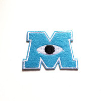 Monsters University patch Mike Wazowski patch James P. Sulllivan patch Embroidered patch Iron on patch Sew on patch Applique
