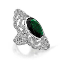Bling Jewelry Emerald Oval Ring