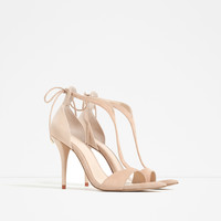 HIGH HEEL STRAPPY SANDALS - View all-SHOES-WOMAN | ZARA United Kingdom
