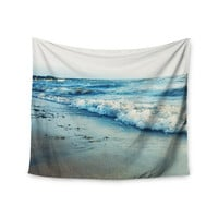 "Chelsea Victoria ""Beyond The Sea"" Blue Coastal Wall Tapestry"