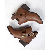 Cute Double Buckled Cut Out Ankle Boots with Stacked Heels in More Colors