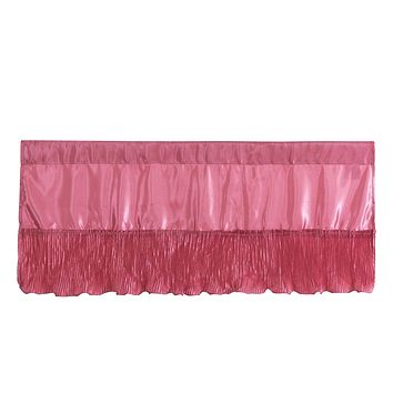 Tache Satin Ruffle Pink Royal Princess Dream Valance (BM1227)