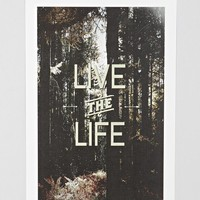 Zach Terrell Live The Life Art Print - Urban Outfitters