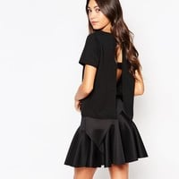 Daisy Street Tunic Top with Open Back