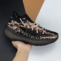 Adidas Yeezy Boost 380 V3 three-generation coconut mesh hollow sneakers Shoes Black