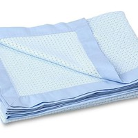 "Ultra Soft Blue Bamboo Swaddling Blanket - 47"" X 35"""