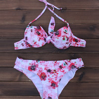 Unique Comfy Flower swimwear Swimsuits Push Up