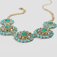Broadway Statement Necklace in Mint