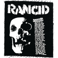 Rancid Men's Nihilism Cloth Patch Black