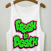 Women's Fresh Prince Fresh To Death Printed Cute Sexy Girl Cropped Sports Summer Harajuku Style Camisole Youth White Tank Top Crop Top