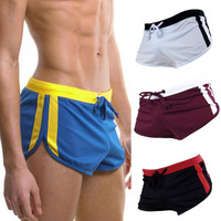 Relaxed Male Swimming trunks Men swimwear short beach surf board shorts Hot running workout shorts M/L/XL