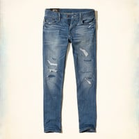 Guys Ripped and Repaired Skinny Jeans   Guys Bottoms   HollisterCo.com