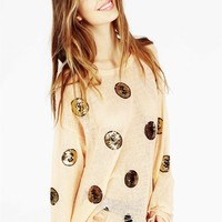 GOLD COINS LENON SWEATER