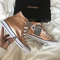 """Converse"" Fashion Sneakers Sport Shoes - Rose gold"
