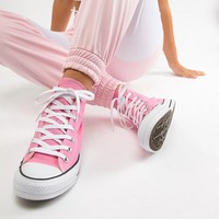 Converse Chuck Hi Taylor Sneakers In Pink at asos.com