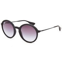 Ray-Ban Rb4222 Round Matte Sunglasses Matte Black One Size For Men 25843518201