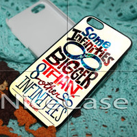 The Fault in Our Stars Quote Infinity for iPhone 4 / 4S / 5 / 5c / 5s Case Samsung Galaxy S3 / S4 Case Cover