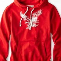 AEO 's Signature Hooded Pop Over (Varsity Red)