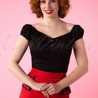 COLLECTIF Jane top hearts