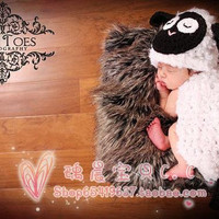 Newborn Baby Girls Boys Crochet Knit Costume Photo Photography Prop = 4457475268
