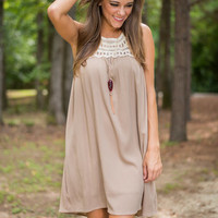 Flow On Dress, Taupe