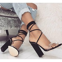 Strappy Crisscross Women Fashion Peep Toe High Heels Shoes