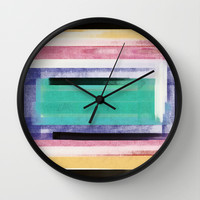 inside rectangle Wall Clock by SpinL