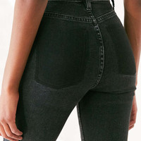 BDG Girlfriend High-Rise Jean - Deconstructed Hem - Urban Outfitters