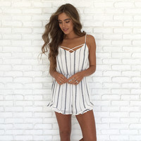 Line It Up Embroider Romper