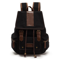 Casual Fashion Trendy Style Durable Travel Backpacks Women Hiking Camping Bag Canvas Rucksacks Backpack Bag for Camping Hiking