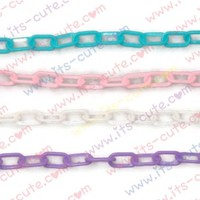 2pc 13mm Plastic Chains for Jewelry Making. Many Colors.