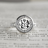 Pandora Hearts silver rings Contract Seal