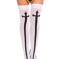 Risen From The Grave Stockings-White
