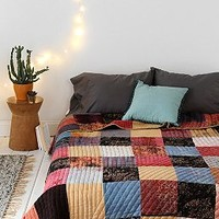 Magical Thinking One-Of-A-Kind Handmade Indian Patchwork Quilt - Urban Outfitters
