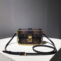 LV Louis Vuitton WOMEN'S MONOGRAM CANVAS MINI Truck INCLINED SHOULDER BAG