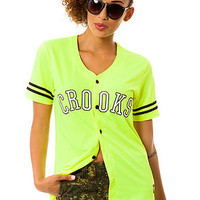 The Athletica Baseball Jersey in Neon Yellow