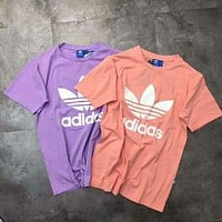 Adidas Originals Trefoil Boyfriend  Short Sleeve Tunic Shirt Top Blouse
