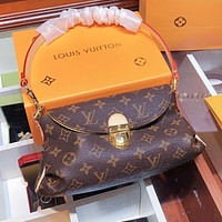Louis Vuitton LV Retro Hot Sale Women Leather Tote Handbag Shoulder Bag Satchel
