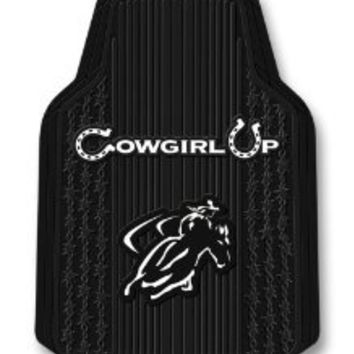 Cowgirl Up Trim-To-Fit Molded Front Floor Mats - Set of 2