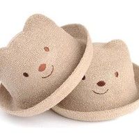 2016 Cute Bear Children'S Fedoras Bucket Straw Hats Sun Hat Linen Caps Retail Hot Sale From Steve7172, $2.52 | Dhgate.Com