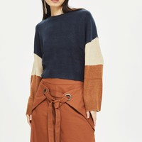 Colour Block Knitted Jumper by Native Youth | Topshop