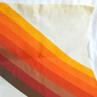 1970s Curtain 70s Kitchen Curtain Yellow Curtain Panel Brown Curtain Panel Orange Curtain Panel Living Room Curtain Bedroom Curtain Wide