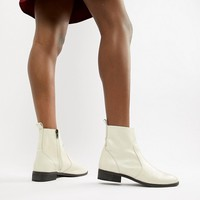 Office Ashleigh white leather calf boots at asos.com